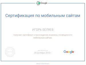 Мобильные сайты - ответы на вопросы экзамена Google Analytics